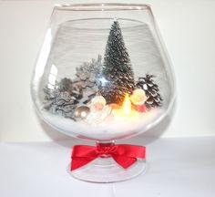 Centre de table - décoration de Noël dans bocal en verre