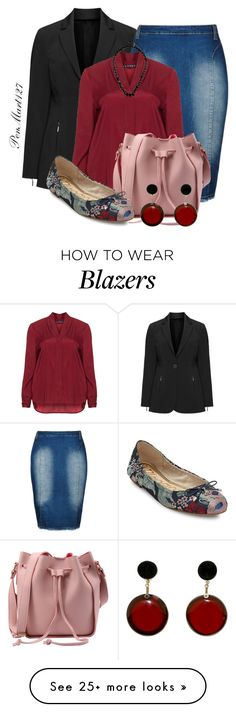 """Blazer - Plus Size"" by penny-martin on Polyvore featuring navabi, City Chic, Jette, Sam Edelman, Marni, Monsoon and plus size clothing"