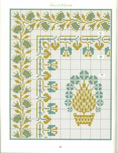 Borders in cross stitch 22 Cross Stitch Geometric, Cross Stitch Art, Cross Stitch Borders, Cross Stitching, Cross Stitch Patterns, Diy Embroidery, Cross Stitch Embroidery, Embroidery Patterns, Seed Bead Patterns