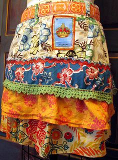 Reina de Cocina- Queen of the Kitchen- recycled apron by lorimarsha, via Flickr