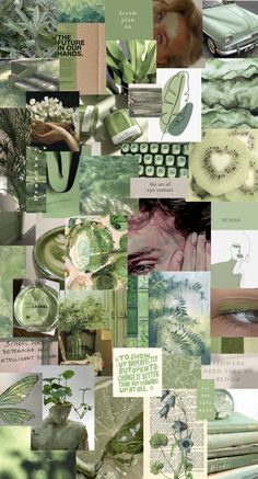 Green collage/wallpaper