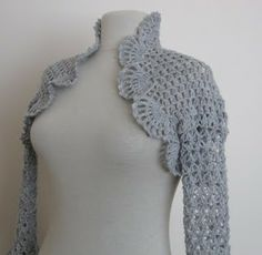 8001200a1594 Knit And Wedding Bridal Accessories and Free pattern  Crochet shrug in  light grey   weddings