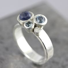 Three Sapphire Ring   sterling silver, sapphires   Sarah Hood   Flickr