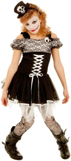 Skeleton Girl Child Costume Children costumes, Halloween costumes - halloween costumes for girls ideas