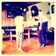 Jumping Girls - my sister and cousin playing.