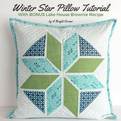 Riley Blake Designs Blog: Stitch 'n Kitchen Blog Tour: Winter Star Pillow Tutorial