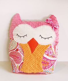 DIY OWL Pillow with Free Printable Pattern