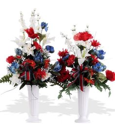 This item is a cemetery cone grave decoration and not suitable for funeral. Red, White & Blue Patriotic Cemetery Cones suitable for any season. As shown is silk, similar look and feel can be made with Fresh flowers. Please select SILK or FRESH. Grave Flowers, Cemetery Flowers, Church Flowers, Funeral Flowers, Silk Flowers, Fresh Flowers, Funeral Arrangements, Silk Floral Arrangements, Patriotic Decorations