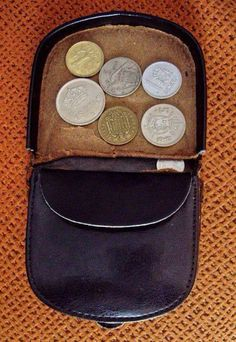 Old coin wallets