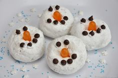 Christmas Inspired Mini Snowman Donuts