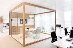kenamp: Elegant office conference room design wooden Silver Steel An Elegant Simple Cube With Wood And Glass At The Offices For Power Company Nuon Bostudio Architecture Pc News From The Architecture And Interior Design Industries Bostudio Corporate Office Design, Office Space Design, Modern Office Design, Small Room Design, Corporate Interiors, Office Interior Design, Office Interiors, Corporate Offices, Office Designs