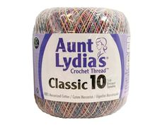 Aunt Lydia's Classic Cotton Crochet Thread is ideal for tablecloths, bed spreads, home decor, apparel, and more. Recommended for crochet hooks size and knitting needles size Crochet Thread Size 10, Crochet Hook Sizes, Crochet Hooks, Eyeshadow Guide, Cotton Crochet, Needles Sizes, Knitting Needles, Aunt, Pastels