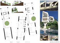 Casas en pendiente: 17 ejemplos de cómo adaptarse a un terreno inclinado - AboutHaus Floor Plans, Minimalist Home, Log Cabin Houses, Home Plans, Precast Concrete, Modernism, House, Floor Plan Drawing, House Floor Plans
