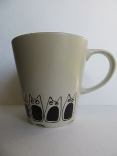 FREE SHIPPING -Hungry Totoro Mug, 12 oz., Stoneware, Hand Painted