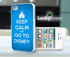 iPhone 4 4s Hard Case - Keep Calm Go To Disney  - Phone Cover