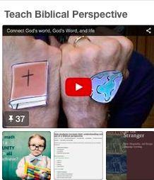 Michael Essenburg's best practice board on teaching Biblical perspective