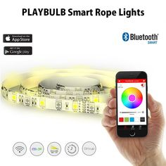 PLAYBULB Smart RGB Rope Strip LED Light , Christmas Decorative Flexible Lamp with APP Control Color-Changing, Timer, Effects and other Modes