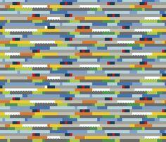 Interlocking Brick Wall - Dense fabric by linkolisa on Spoonflower - custom fabric