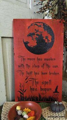 The Spell ~ Halloween Decor - http://evilstyle.com/the-spell-halloween-decor