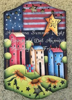 Americana Summer Night - Painted by Deb Antonick, Painting With Friends E Pattern by PaintingWithFriends on Etsy