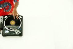 Close-up of DJ turntable Gramophone Record, Turntable, Vinyl Records, Dj, Stock Photos, Record Player