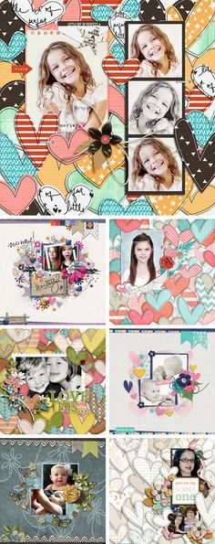 From The Heart #02 | Templates by Akizo Designs | Digital Scrapbooking | Inspirational Layouts