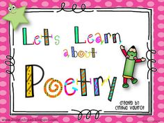 Let's Learn About Poetry