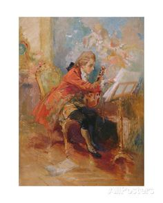 mozart  - Google Search, can't find the name of the painter.