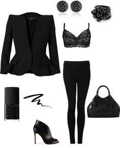 """All Black Everything"" by jessl1117 ❤ liked on Polyvore"
