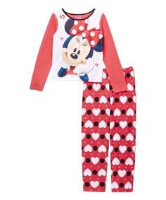 Love this Minnie Mouse Red Hearts Pajama Set - Kids on #zulily! #zulilyfinds