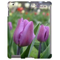 Purple Tulip iPad case