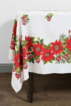 Vintage Holiday Tablecloth from Urban Outfitters on shop.CatalogSpree.com, your personal digital mall.