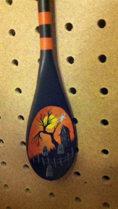 hand painted wooden spoon.