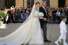 The most Beautiful Dress EVER!  Tiara  not so bad either ;) Wedding of Prince Felix and Claire Lademacher -