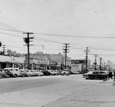 Reseda Boulevard, looking north, one block south of Sherman Way, circa 1954 :: San Fernando Valley History