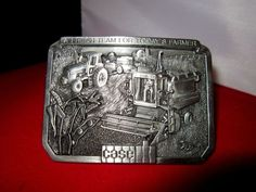 Vintage Case Belt Buckle (A Fresh Team for Today's Farmer) 1985 Limited Edition #Case