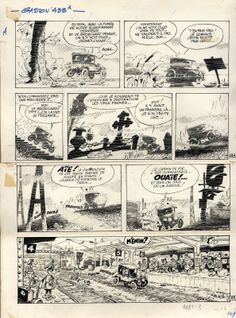 Gaston Lagaffe par Franquin. Gag 433 du 17 novembre 1966.