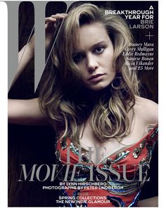 Brie Larson on the cover of W Magazine wearing Marc Jacobs Spring '16. Photo by Peter Lindbergh, styled by Edward Enninful February 2015