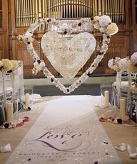#Personalized #aisle runner themarriedapp.com hearted <3