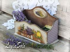 короб для чайных пакетиков Лаванда - сиреневый,короб для чая,короб для пакетиков