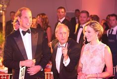 The Duke of Cambridge pictured with Joss Stone and CEO of Tusk Trust Charlie Mayhew, centre