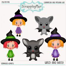 Witch and Batty Templates and Clipart by ScrapingMar cudigitals.com clipart template cu commercial scrap scrapbook digital graphics #cu #digitalscrapbooking #scrapbooking #photoshop #digiscrap
