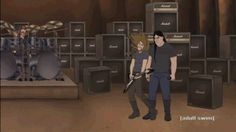 Toki and Nathan :D Toki Wartooth, Metalocalypse, Tv Funny, Home Movies, Animation Series, Skyrim, Im In Love, Fangirl, First Love