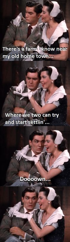 And the award for facial expressions goes to... Tommy Rall!!  Kiss me Kate (1953) // Ann Miller: Why can't you behave