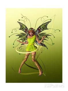 Fairy Photos, Prints, Paintings & Wall Art for Sale Fairy Land, Fairy Tales, Fairies Photos, Fairy Tattoo Designs, Green Butterfly, Butterfly Fairy, Kobold, Magical Creatures, Pixie