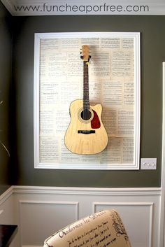 A great idea for all those guitars - just need the wall space. By The Fun Cheap or Free Queen