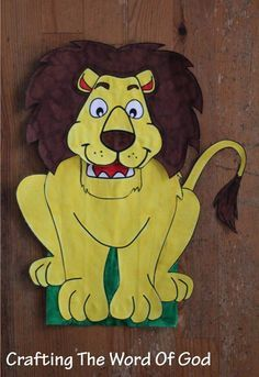With this craft your kids will be able to make their very own lion for the story of Daniel in the lions den. I also have a version were the whole head moves. (Version 1) Instructions Print the temp...