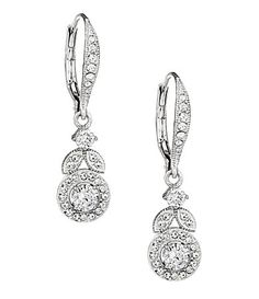 Maid of Honor earrings! Theyre perfect!!  Nadri Crystal Vine Drop Earrings | Dillards.com