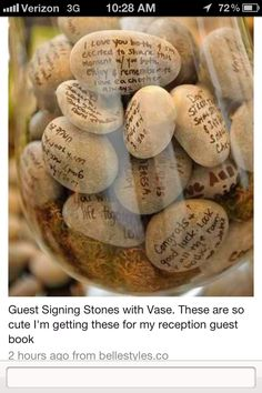 love this idea for a guestbook