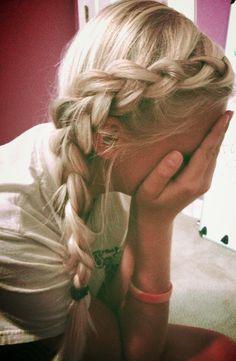 Dutch braid! Easy!
